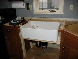 How To Install Cabinets In Kitchen Retrofiting A Farmhouse Sink In Existing Cabinetry Question
