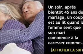 45 ans de mariage un soir après bientôt 45 ans de mariage un est au lit