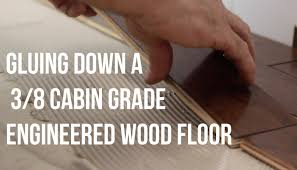 Laminate Flooring Glue Down How To Glue Down Install A Three Eighths Cabin Grade Engineered