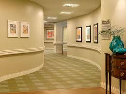 nursing home interior design curved corridors wesley pines retirement community spellman