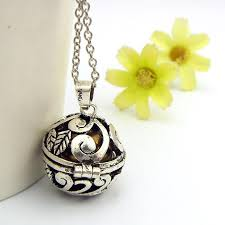 silver ball pendant necklace images Angel caller quot harmony ball pendant necklace happiheart designs jpg