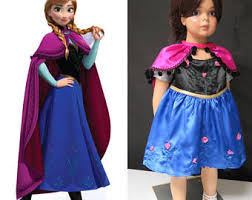 Anna Elsa Halloween Costumes Anna Frozen Dress Etsy
