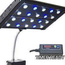 led aquarium light with timer evo quad clip 3w timer ready led aquarium light nano marine coral