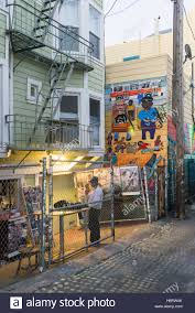 the mission district in san francisco california is a virtual stock photo the mission district in san francisco california is a virtual outdoor art gallery full of vibrant murals throughout the