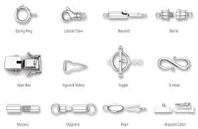 and jewelry jewelry 101 types of clasps necklace chain chains and jewelry tools