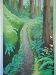 the talking walls tree murals them painted a custom oak tree mural