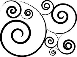 swirl clipart design pencil and in color swirl clipart