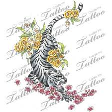 tiger and flower designs a design picture by ink tiger nature