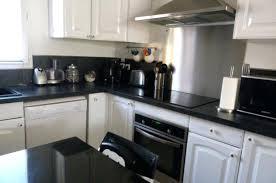 cuisine blanche et noir deco cuisine blanc et cuisine blanc inox photos de