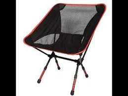 Ultra Light Folding Chair Moon Lence Camping Chair Review Youtube