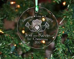 etched glass ornaments personalized etched ornament etsy