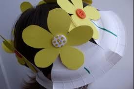 easter bonnets easter bonnet paper plate flower hat netmums