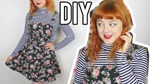diy pinafore with adjustable straps make thrift buy 24 youtube