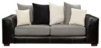 Microfiber Leather Sofa Microfiber Leather Sofa Global U6300 Sofa In Grey Microfiber