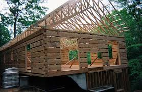 One Story Log Cabins Hearthstone Log And Timber Frame Homes Work In Progress