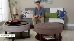 belham living dalton coffee table storage ottoman with shelf
