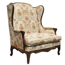 vintage country french louis xv style wing back settee love seat
