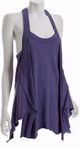 free people lelani tunic ultraviolet tank top beach coverup