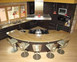 island in the kitchen best 25 curved kitchen island ideas on area for