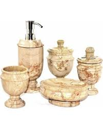 5 Piece Bathroom Set by Summer Sale Nature Home Decor Sahara Beige Marble 5 Piece