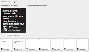 online cards pretend you re xyzzy is a cards against humanity clone program