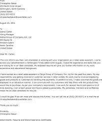 cover letter retail position bold ideas example cover letters for