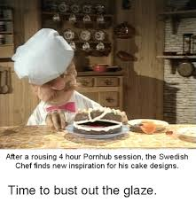 Swedish Chef Meme - after a rousing 4 hour pornhub session the swedish chef finds new