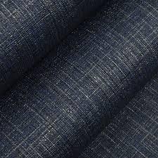 vintage plain solid color denim dark blue wallpaper textured linen