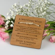 wish wedding engraved wooden wedding save the date with magnet personalised