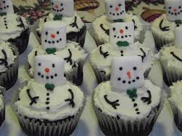 snowman marshmallows melting snowmen cupcakes duncan hines