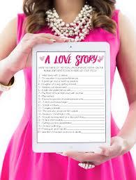 printable bridal shower game a love story bridal shower games