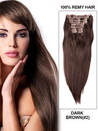Cheap Thick Clip In Hair Extensions by 16 Inch 7 Pcs Clip In Body Wave Brazilian Human Hair Extensions