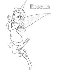 rosetta tinkerbell coloring disney princess