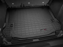 weathertech jeep wrangler 2013 jeep wrangler unlimited cargo mat and trunk liner for cars