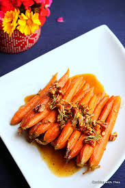 glazed carrots cooking with thas