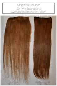 bellami hair versus luxy hair what are double drawn vs single drawn hair extensions