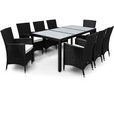 White Wicker Desk by Poly Rattan Garden Furniture Wicker Dining Table Chair Outdoor Set