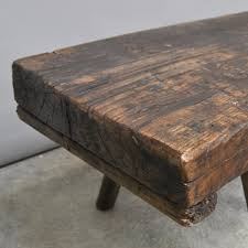 butcher block coffee table hungarian butchers block oak coffee table 1920s for sale at pamono