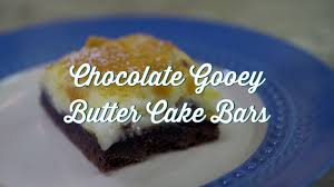 paula deen gooey butter cake bars recipe