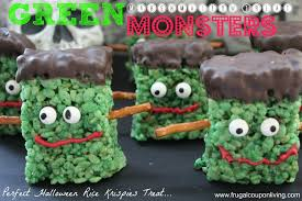 Rice Crispy Treat Pumpkins Halloweeny Monster Cupcakes