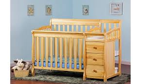 4 In 1 Convertible Crib With Changer On Me 4 In 1 Mini Convertible Crib And Changer Groupon