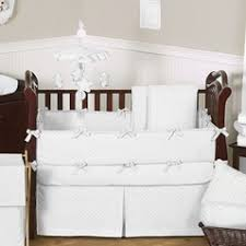 All White Crib Bedding White Baby Bedding Black And White Bedding Toile