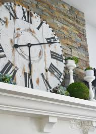 How To Reclaim Barn Wood Make A Giant Reclaimed Wood Clock From An Electrical Reel