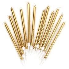 gold birthday candles 12 gold cake candles pipii