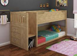 Mars Midi Sleeper Oak Or White Awesome Beds  Kids Bunk Beds - Lo line bunk beds