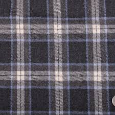 italian charcoal gray plaid wool flannel fabric by the yard mood