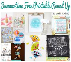summertime free printables round up my so called crafty life