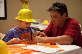home depot kids workshop dad dad is learning