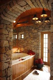 Cabin Bathrooms Ideas by 63 Best Stone Bathrooms Images On Pinterest Bathroom Ideas Room