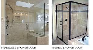 Frame Shower Door The Differences Between A Framed And A Frameless Shower Door